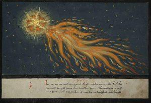 Comet-Augsburger Wunderzeichenbuch, Folio 28, c. 1552