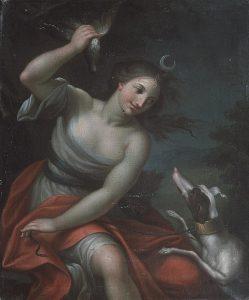 Diana and her hound, c. 1720